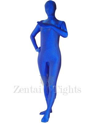 Unicolor Blue Lycra Spandex  Morph Suit Zentai Suit