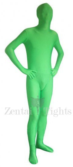 Unicolor Full Body Morph Suit Zentai Tights Green Man Spandex Morph Suit Zentai Suit