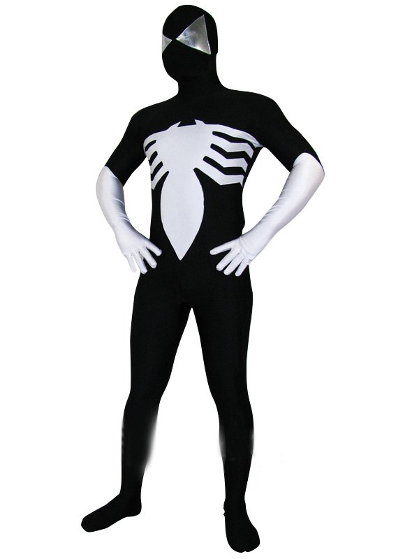 Black Lycra Spandex Spiderman Morph Suit Zentai Costume