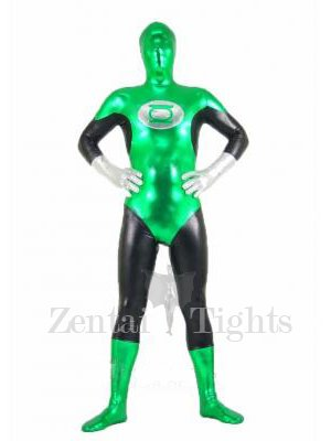 The Green Lantern Shiny Metallic Unisex Morph Suit Zentai Suit