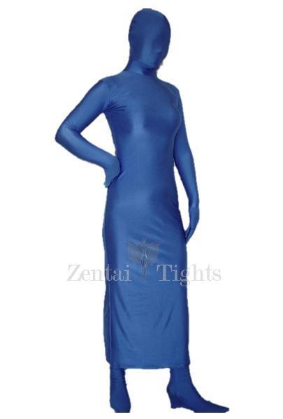 Blue Lycra Spandex Morph Suit Zentai Suit