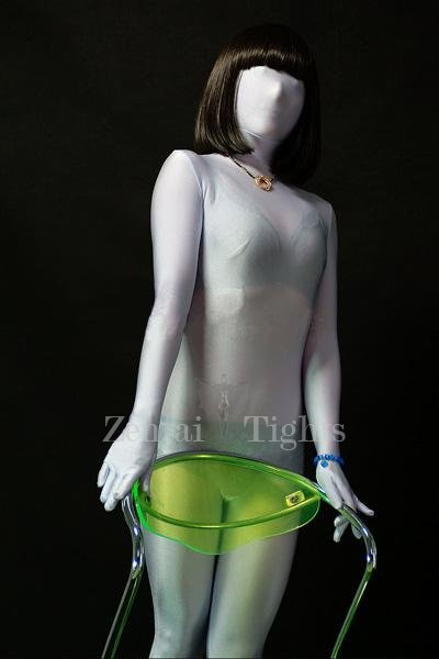 Perfect Superior Perfect Unicolor Full Body Morph Suit Zentai Tights White Lycra Spandex Unisex Morph Suit Zentai Suit