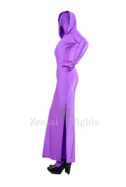 Purple Lycra Spandex Unisex Morph Suit Zentai Suit in Skirt Style