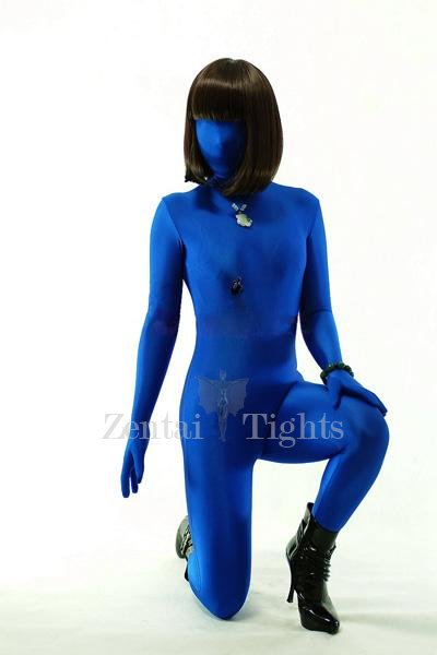 Superior Unicolor Full Body Morph Suit Zentai Tights Blue Lycra Spandex Unisex Morph Suit Zentai Suit