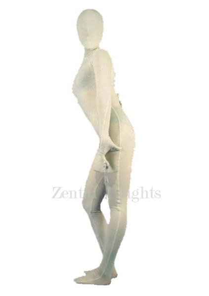 Top Unicolor Full Body Morph Suit Zentai Tights White Lycra Spandex Unisex Morph Suit Zentai Suit