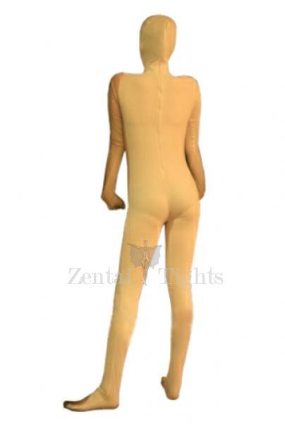 Unusual Yellow Lycra Spandex Unisex Morph Suit Zentai Suit