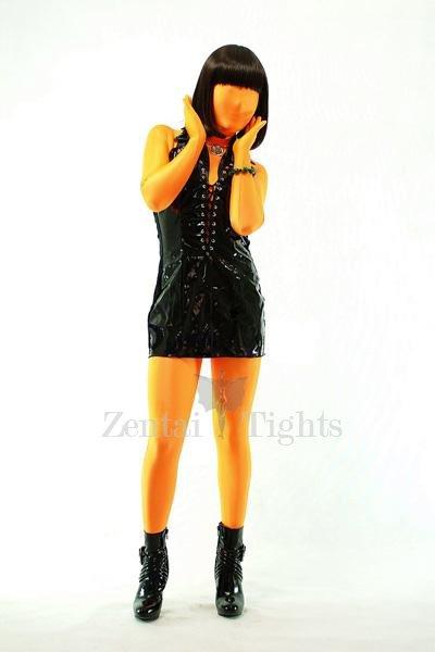 Classic Orange Lycra Spandex Unisex Morph Suit Zentai Suit