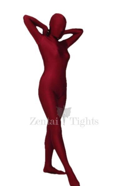 Crimson Lycra Spandex Morph Suit Zentai Suit