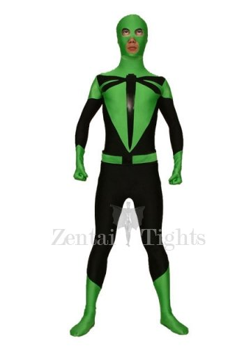 Green And Black Dargonfly Lycra Spandex Morph Suit Zentai Suit