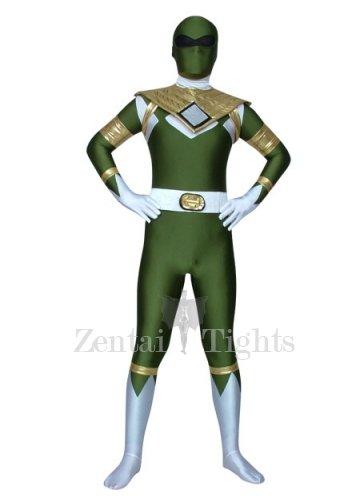 Green Lycra Spandex Morph Suit Zentai Costume