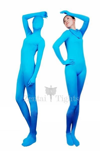 Lake Blue Lycra Spandex Unisex Morph Suit Zentai Suit