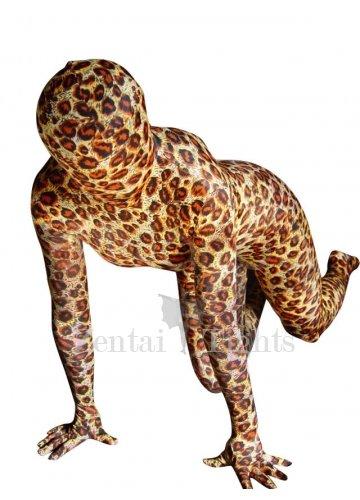 Leopard Lycra Spandex Unisex Morph Suit Zentai Suit