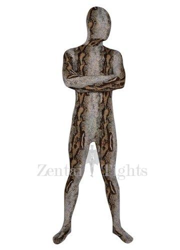 Mature Brown Camouflage Lycra Spandex Male  Unisex Morph Suit Zentai
