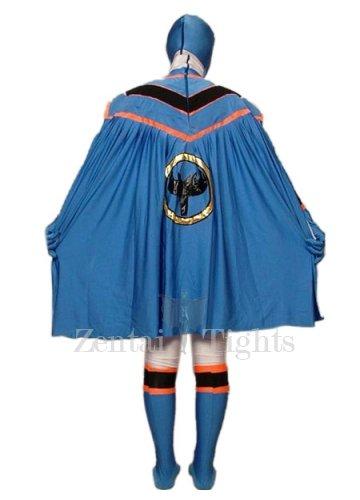 Blue Lycra Spandex Super Hero Morph Suit Zentai Suit