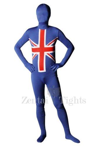 England Flag Pattern Unisex Lycra Morph Suit Zentai Suit