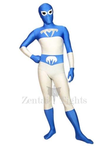 Sky Blue Envoy Lycra Spandex Morph Suit Zentai Suit