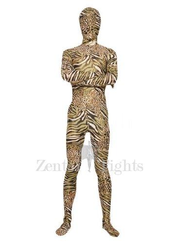 Zebra Pattern Unisex Lycra Morph Suit Zentai Suit