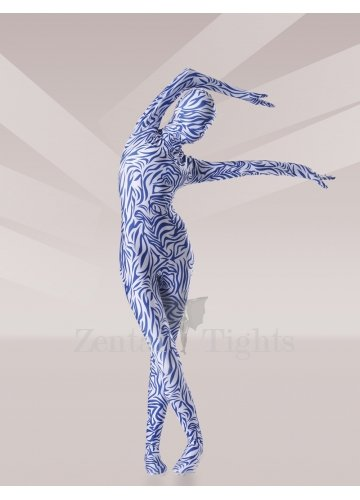 Blue Lycra Unisex Morph Suit Zentai Suit