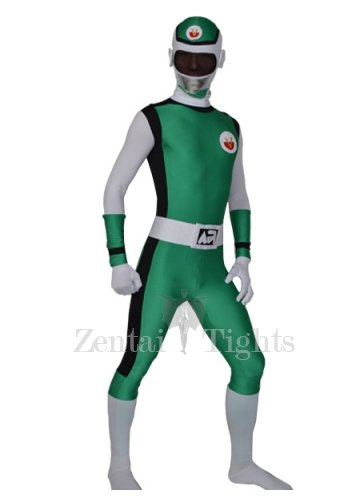 Green Lycra Men\'s Morph Suit Zentai Suit