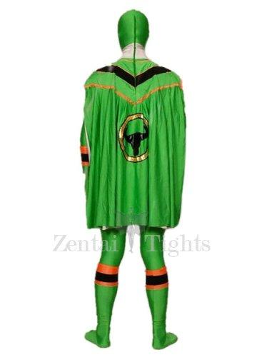 Green Lycra Spandex Super Hero Morph Suit Zentai Suit