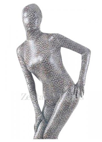 Leopard Pattern Shiny Metallic Unisex Morph Suit Zentai Suit