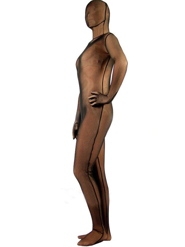 Brown Velvet Unisex Morph Suit Zentai Suit