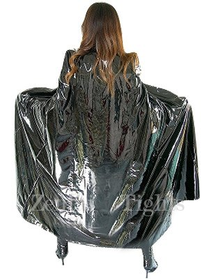 Cool Black PVC Cape