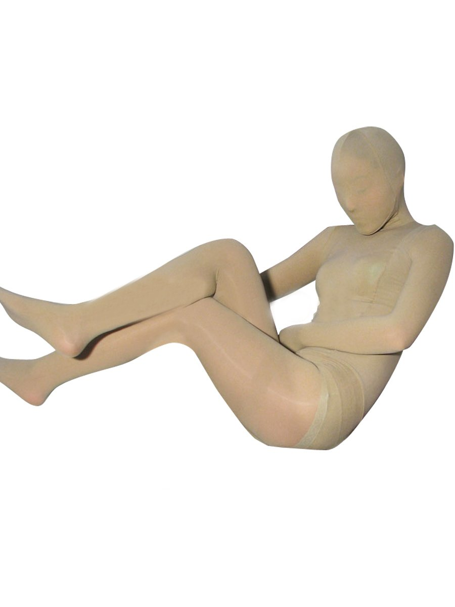 Flesh Color Velvet Unisex Morph Suit Zentai Suit