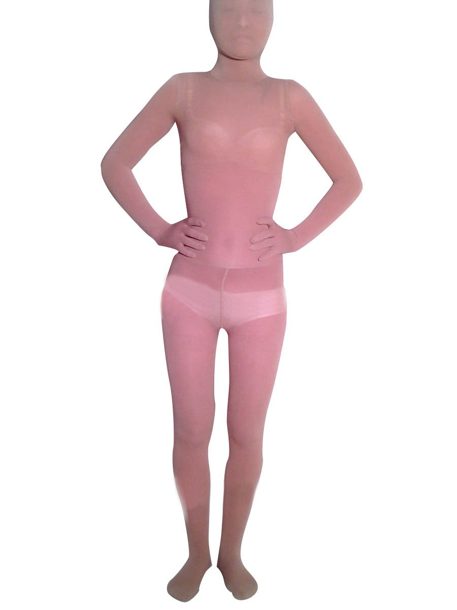 Flesh Transparent Velour Unisex Morph Suit Zentai Suit