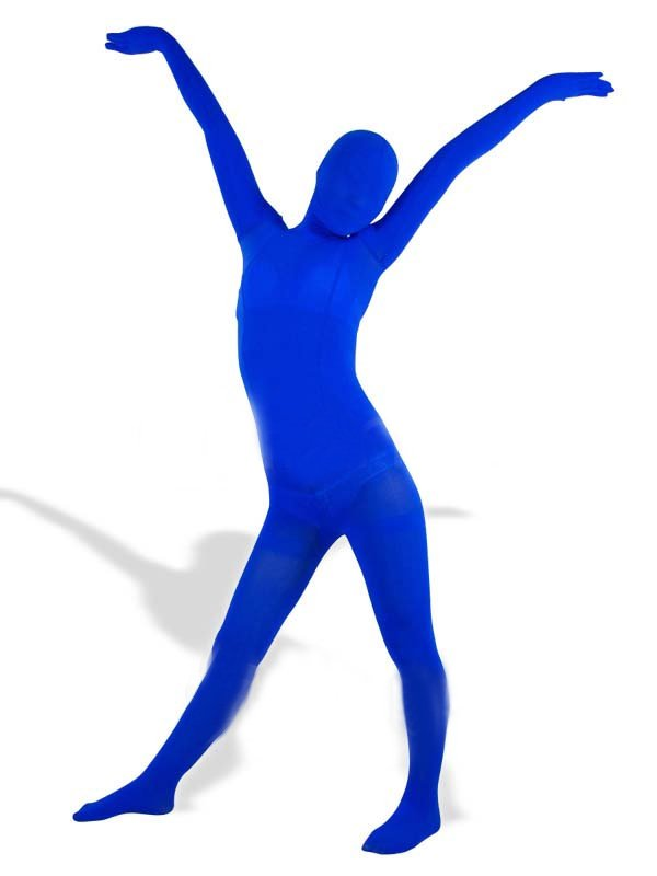 Royal Blue Velour Unisex Morph Suit Zentai Suit