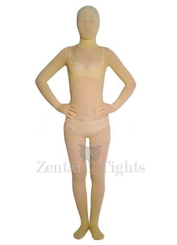 Superior Light Yellow Velvet Unisex Morph Suit Zentai Suit