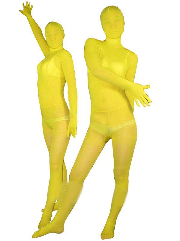 Yellow Velvet Unisex Morph Suit Zentai Suit
