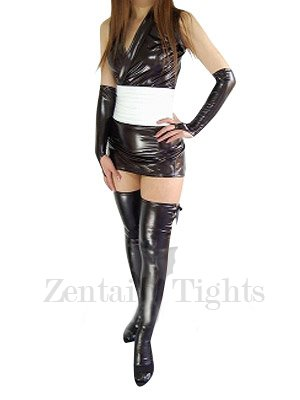 Cheap Cool Black Shiny Metallic Sexy Dress