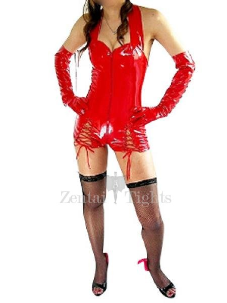 Red PVC Bodysuit