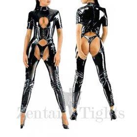 Shiny Heavy Black Sexy PVC Catsuit