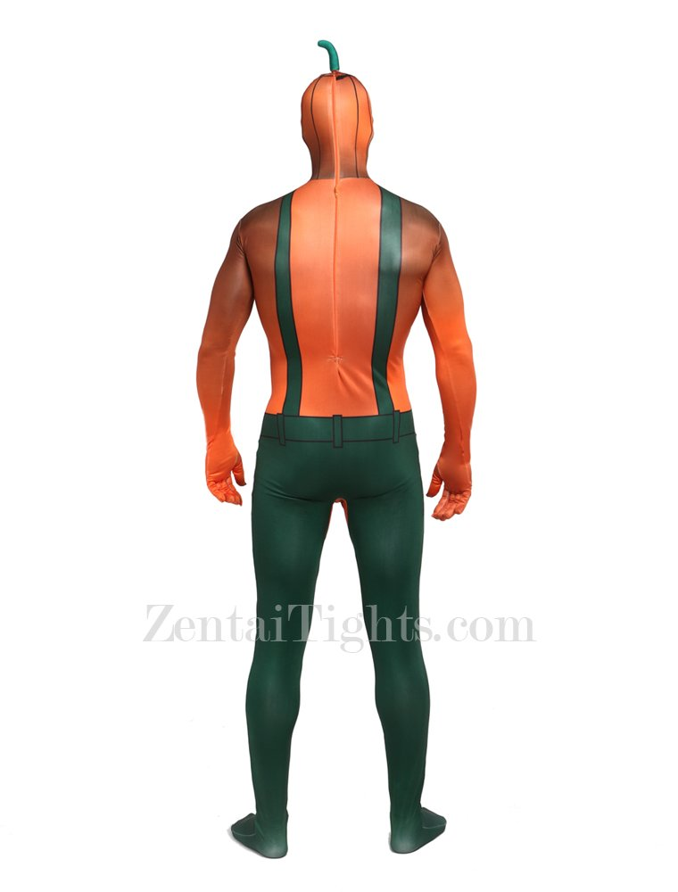 Halloween Ghost Festival Party Packs Pumpkin Spandex Elastic Tights Fullbody Zentai Suit