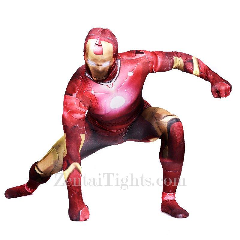 Iron Man Full Body Halloween Spandex Holiday Unisex Cosplay Zentai Suit
