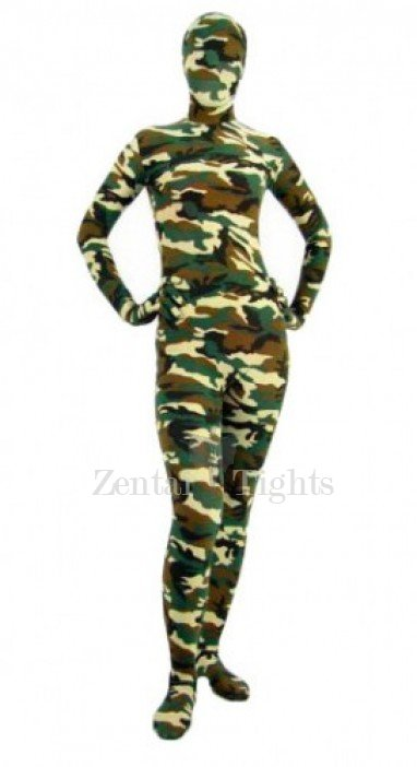 Full Body Morph Suit Zentai Tights Desert Camouflage Pattern Morph Suit Zentai suit