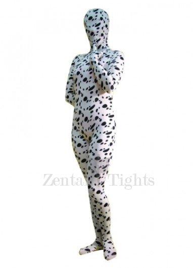 Full Body Morph Suit Zentai Tights Dalmatian Print Spandex  Morph Suit Zentai Suit