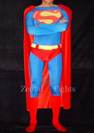 Lycra  Superman Spandex Costume