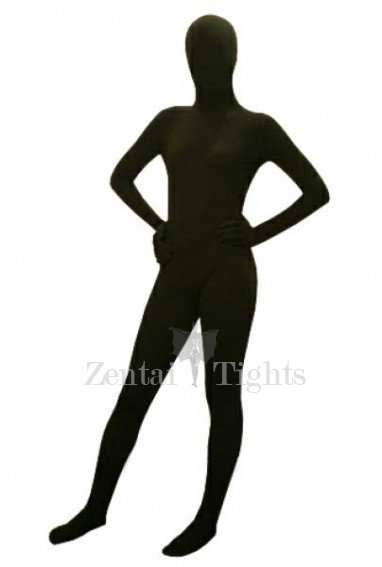 Classic Black Lycra Spandex Unisex Morph Suit Zentai Suit