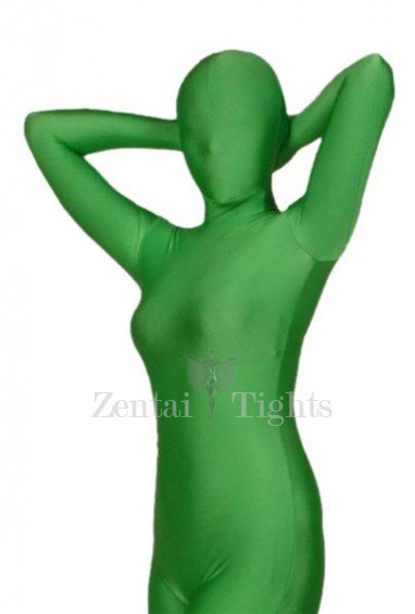 Ideal Unicolor Full Body Morph Suit Zentai Tights Green Lycra Spandex Morph Suit Zentai Suit