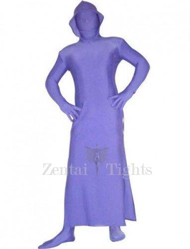 Skirt Style Purple Lycra Spandex Unisex Morph Suit Zentai Suit