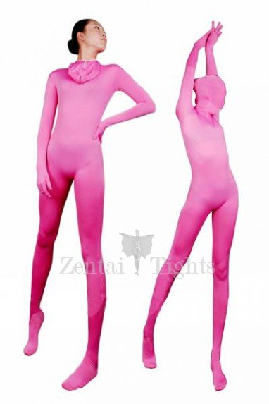 Unicolor Full Body Morph Suit Zentai Tights Pink Lycra Spanex Unisex Morph Suit Zentai Suit