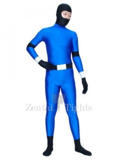 Blue And Black Ninja Spandex Morph Suit Zentai Suit