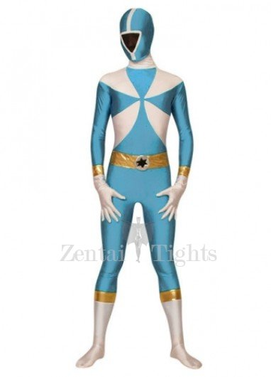 Green And White The Terminator Lycra Spandex Super Hero Costume