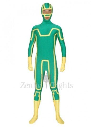 Green Unisex Lycra Morph Suit Zentai Suit