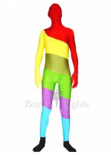 Multicolor Lycra Spandex Unisex Morph Suit Zentai Suit