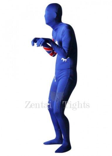 Pattern Of Australian Flag Lycra Spandex Unisex Morph Suit Zentai Suit