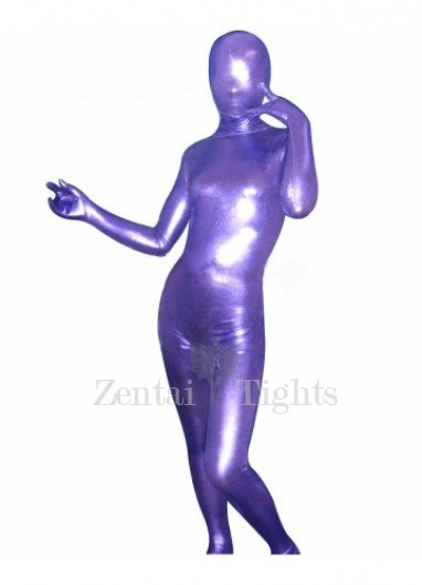 Superior Purple Shiny Metallic Unisex Morph Suit Zentai Suit